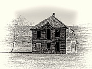 Haunted House Prints - Okanogan Homestead - Washington Print by Daniel Hagerman