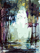 Landscape Prints Mixed Media Framed Prints - Okefenokee Georgia Light At The End Framed Print by Ginette Callaway