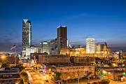 Devon Tower Photo Framed Prints - Oklahoma City Skyline Framed Print by David Waldo