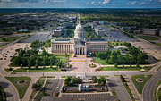 Oklahoma City State Capitol Building A Print by Cooper Ross