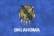 Oklahoma City Prints - Oklahoma Flag Print by World Art Prints And Designs