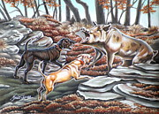 Wild Boar Paintings - Oklahoma Hog by Monica Turner