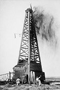 Oklahoma Digital Art Prints - Oklahoma Oil Well 1922 Print by Digital Reproductions