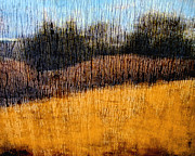 Prairie Dog Mixed Media Originals - Oklahoma Prairie Landscape by Ann Powell