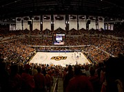 Basketball Posters Prints - Oklahoma State Cowboys Gallagher-Iba Arena Print by Replay Photos