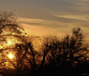 Silhouettes Digital Art Prints - Oklahoma Sunset Print by Jeff Kolker