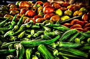 David Morefield - Okra and Tomatoes
