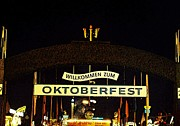 Munchen Framed Prints - Oktoberfest Framed Print by Zinvolle Art