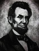 Abe Lincoln Drawings Posters - Ol Abe Poster by Justin Coffman