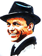 Frank Sinatra Painting Prints - Ol blue eyes Print by Steven Ponsford
