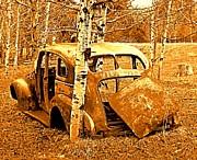 Ol Car Backside Print by Barbara Henry
