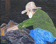 Campfire Paintings - OL JIM - Ready for the Bedroll by Dana Carroll