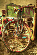 Cyclist Posters - Ol Rusty Poster by Debra and Dave Vanderlaan