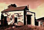Haunted House Digital Art Metal Prints - Old Abandoned House in Cape Breton Metal Print by John Malone