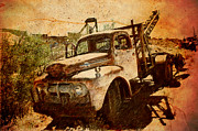 Apache Framed Prints Framed Prints - Old Abandoned Tow Truck Framed Print by Beverly Guilliams