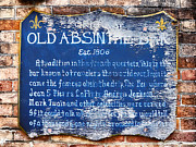 Street Sign Digital Art Posters - Old Absinthe Bar - Bourbon Street Poster by Bill Cannon