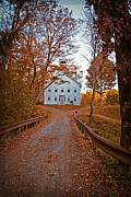Gravel Road Photos - Old Academy South Woodstock by Edward Fielding