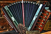 Finger Mixed Media Prints - Old Accordion Print by Todd and candice Dailey