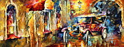 Antique Automobile Originals - Old Alleyway by Leonid Afremov