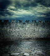 Old Ancient Wall Print by Mythja  Photography