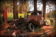 Old Objects Paintings - Old and Abandoned in the Black Hills by John Malone