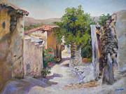 Traditional Pastels Metal Prints - Old Andalucia Metal Print by Heather Harman