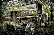 Historic Military Vehicle Posters - Old Army Truck Poster by Todd and candice Dailey