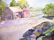 Old Barn Paintings - Old Barn and Silo by Jacqueline Coote