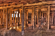 Barn Boards Prints - Old Barn Beams Print by Matt Dobson