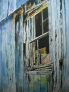 Old Barn Paintings - Old Barn by Betty Mulligan