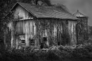 Dark Skies Posters - Old Barn Poster by Bill  Wakeley