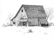 Old Barn Print by Donald Curry