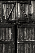 Barn Door Photo Prints - Old Barn Door - BW Print by Paul W Faust -  Impressions of Light