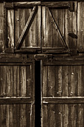 Old Barn Door - Toned Print by Paul W Faust -  Impressions of Light