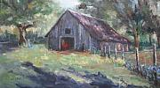 Old Barn Paintings - Old Barn in Arkansas by Sharon Franke