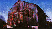 Old Barn In Fall Print by Chris Reed