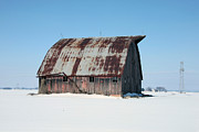 Al Blount - Old Barn In Snow