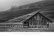 Pleasanton Framed Prints - Old Barn in the Fog Framed Print by PhotoWorks By Don Hoekwater
