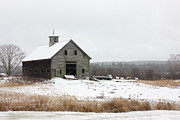 Glouster Metal Prints - Old Barn in the Snow Metal Print by Benjamin Williamson
