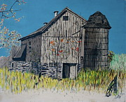 Old Barn Paintings - Old Barn by Linda Simon