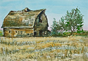 Spokane Painting Framed Prints - Old Barn Framed Print by Lynne Haines