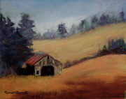 Appalachian Pastels Prints - Old Barn Print by Marion Derrett