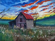 Old Barn Paintings - Old Barn No2 by Theon Guillory