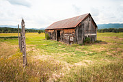 Old Barns Photo Prints - Old barn on Highway 86 - Rustic Barn Print by Gary Heller