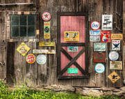 Old Signs Prints - Old Barn Signs - Door and Window - Shadow Play Print by Gary Heller