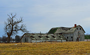 Indiana Landscapes Photo Prints - Old Barns In The Heartland Print by Alys Caviness-Gober
