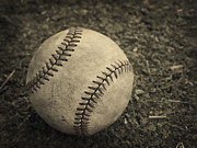 Base Photos - Old Baseball by Edward Fielding
