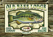 Jon Q Wright Framed Prints - Old Bass Lodge Framed Print by Jon Q Wright