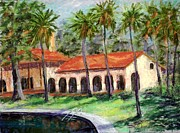 Florida State Pastels - Old Bathouae by Bruce Schrader