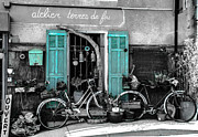 Dany  Lison - Old bicycles and blue...